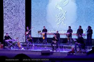 هنرنمایی پویا نیکپور، همایون نصیری، دارا دارایی و آریا عظیمنژاد در اختتامیه جشنواره فیلم فجر