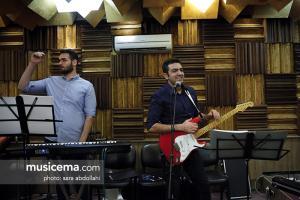 تمرین علی لهراسبی و گروهش برای کنسرت تیرماه - 2 تیر 1396