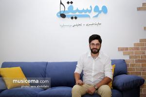 گفت و گو با «شهاب اکبری» در دفتر سایت «موسیقی ما» - تیر 1396