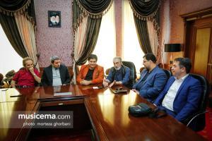 نشست خبری مسئولان ارکستر سمفونیک پیش از عزیمت به روسیه
